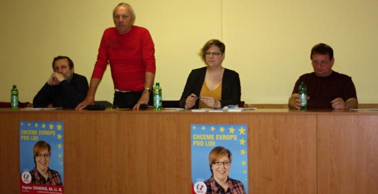 Putování kandidátky do EP - Brno sever