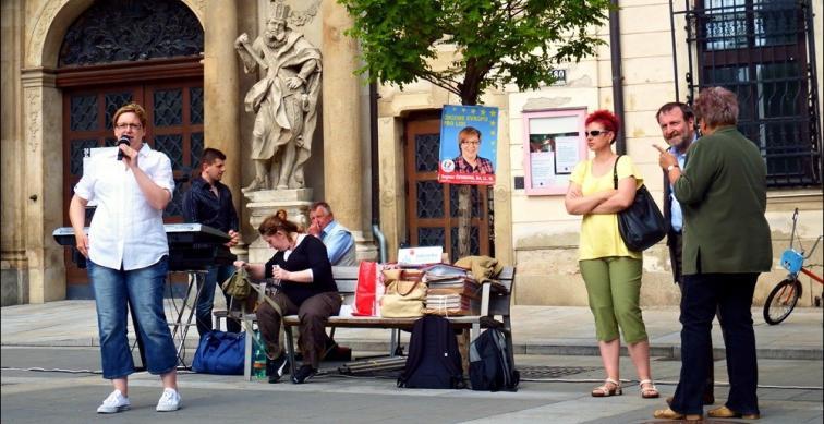 Předvolební akce v Brně - 21.5.2014