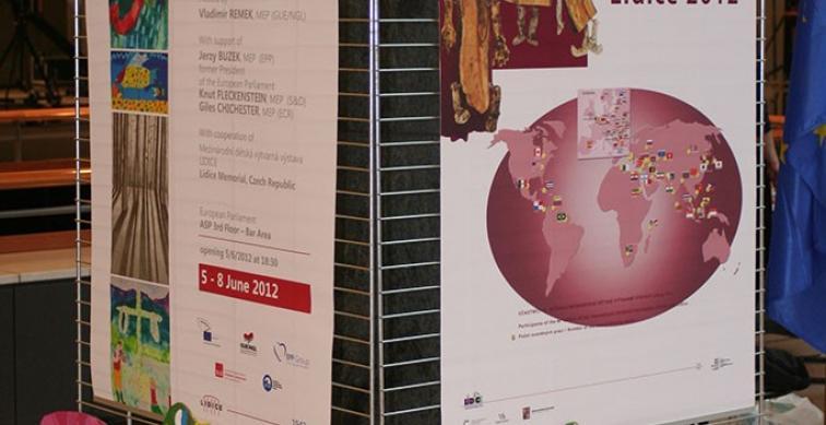 LIDICE výstava v Evropském parlamentu