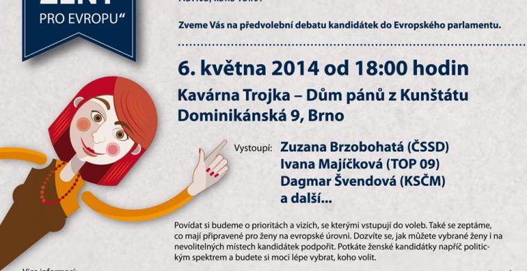 Předvolební debata kandidátek do Evropského parlamentu - Brno
